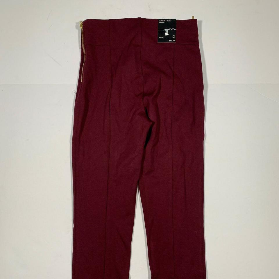 ae888d696a38 INC International Concepts Red Wine Burgundy Women 2 Skinny Jeans Size 25 (2,  XS) - Tradesy