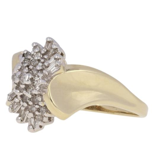 Other .16ctw Single & Baguette Cut Diamond Ring - 10k Yellow Gold E3819 Image 1