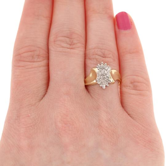 Other .16ctw Single & Baguette Cut Diamond Ring - 10k Yellow Gold E3819 Image 2