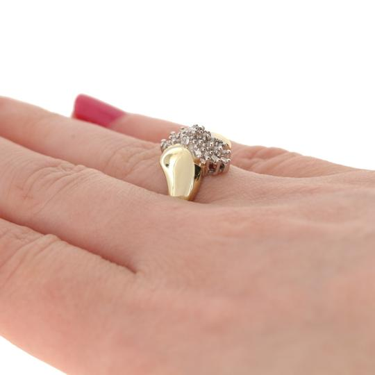 Other .16ctw Single & Baguette Cut Diamond Ring - 10k Yellow Gold E3819 Image 3