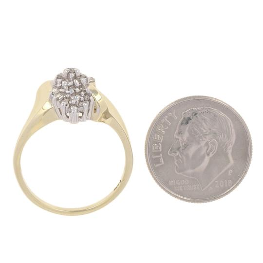 Other .16ctw Single & Baguette Cut Diamond Ring - 10k Yellow Gold E3819 Image 5