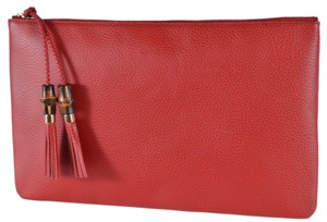282a89681 Red Leather Gucci Clutches - Up to 70% off at Tradesy