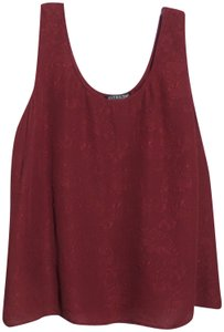 Citron Plus Oversized Silk Asian Top Rich red