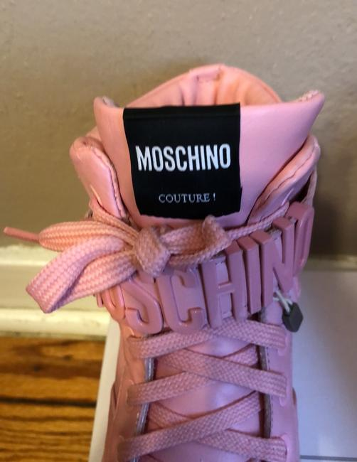Moschino Pink Top Sneakers Size US 9 Regular (M, B) Moschino Pink Top Sneakers Size US 9 Regular (M, B) Image 2