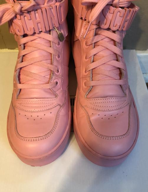 Moschino Pink Top Sneakers Size US 9 Regular (M, B) Moschino Pink Top Sneakers Size US 9 Regular (M, B) Image 4