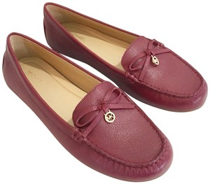 Michael Kors Leather Moccasin Burgundy Flats