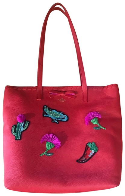 Item - Red Lambskin Leather Tote