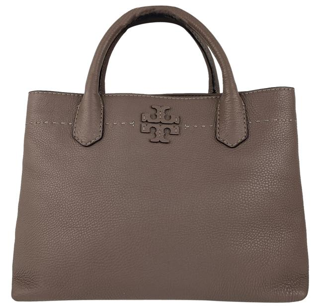 Item - New Mcgraw Triple Compartment Satchel Silver Maple Leather Tote