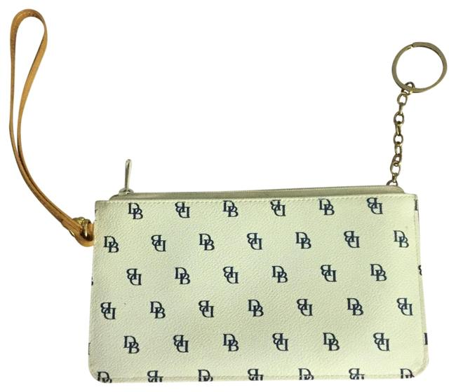 Item - White and Navy Leather Cross Body Bag