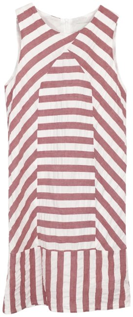 Item - Red White Sam Mixed Stripe Short Casual Dress Size 2 (XS)