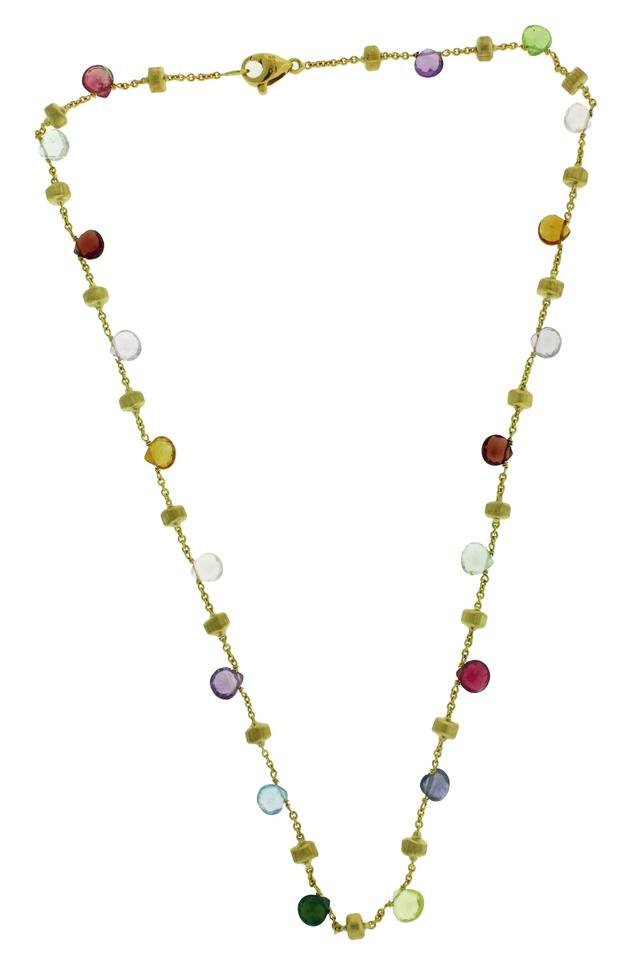 ea5a6f574f7aad Marco Bicego Marco Bicego women's 18K Yellow Gold & Mixed Stone Short  Necklace ...