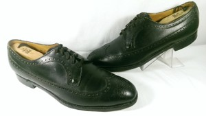 Brooks Brothers Black Leather Men's Wingtip Brogue Classic 8.5m Shoes