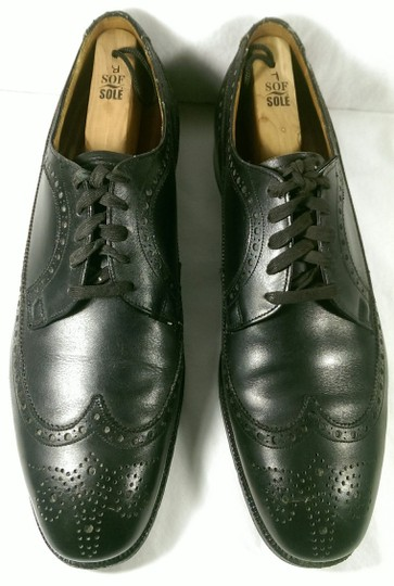 Brooks Brothers Black Leather Men's Wingtip Brogue Classic 8.5m Shoes Image 1