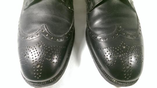 Brooks Brothers Black Leather Men's Wingtip Brogue Classic 8.5m Shoes Image 2