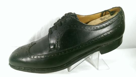 Brooks Brothers Black Leather Men's Wingtip Brogue Classic 8.5m Shoes Image 3