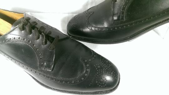 Brooks Brothers Black Leather Men's Wingtip Brogue Classic 8.5m Shoes Image 4