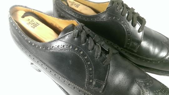 Brooks Brothers Black Leather Men's Wingtip Brogue Classic 8.5m Shoes Image 5