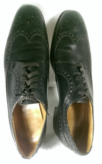 Brooks Brothers Black Leather Men's Wingtip Brogue Classic 8.5m Shoes Image 6