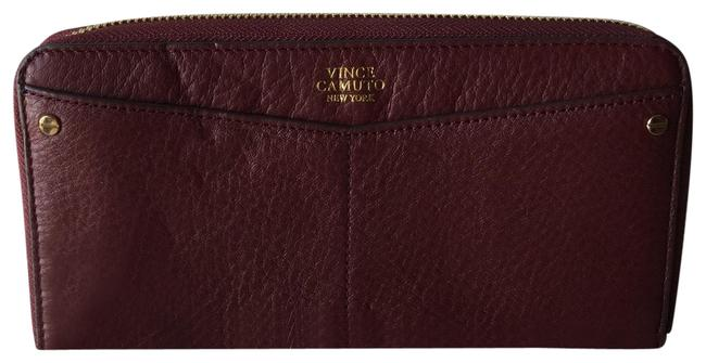 Item - Red Burgandy Pebbled Leather Wallet