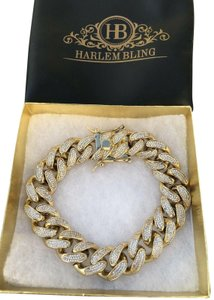 56db0586ab3 Harlembling Mens ICY Miami Cuban Link 8.5