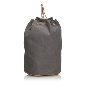 Hermès 9ehebp001 Vintage Canvas Leather Backpack