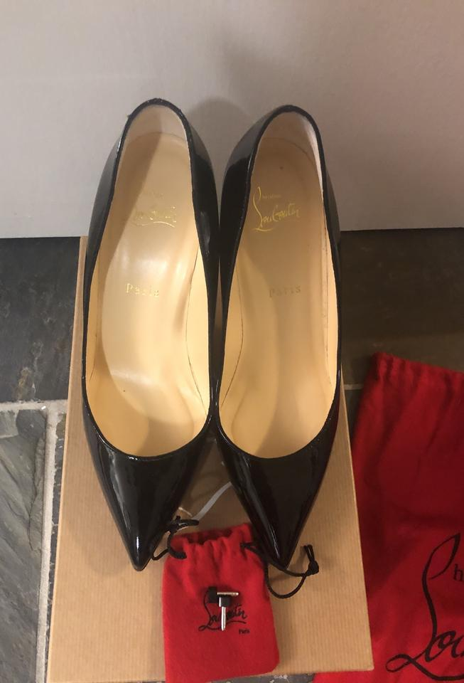 premium selection 31457 9dddb Christian Louboutin Black Patent Pigalle 85 Calf Pumps Size EU 39 (Approx.  US 9) Regular (M, B) 22% off retail