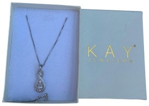 1c5c8f392 Kay Jewelers Sterling Silver White Sapphire Necklace