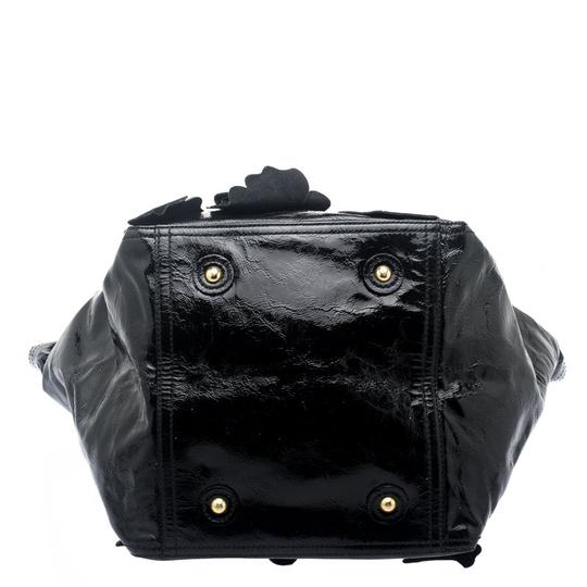 Saint Laurent Patent Leather Satin Tote in Black Image 4