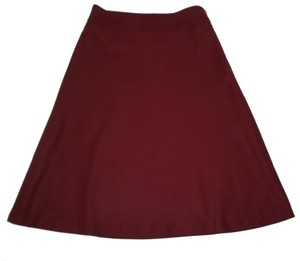 Talbots A-line Wool Lined Skirt Oxblood