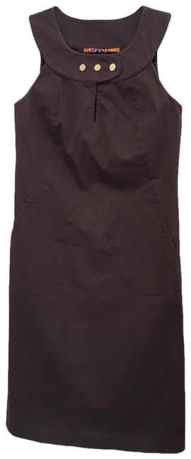 Item - Brown Shift Mid-length Work/Office Dress Size 2 (XS)