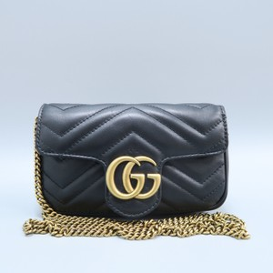 74df2949b61 Gucci Marmont Calfskin Super Mini Shoulder Bag