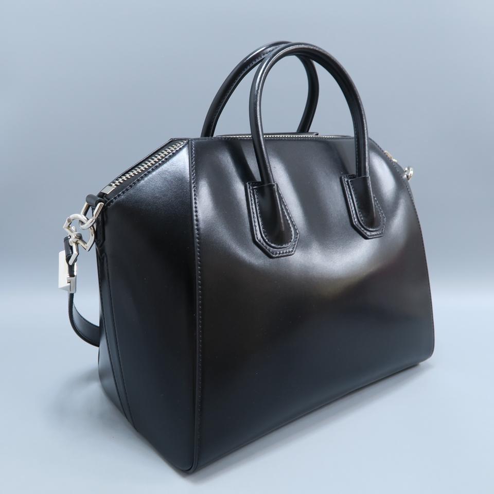 c0ef2366ea Givenchy Calfskin Large Antigona Satchel in Black Image 11. 123456789101112