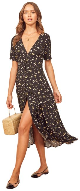 Preload https://img-static.tradesy.com/item/25503916/reformation-black-locklin-floral-mid-length-short-casual-dress-size-2-xs-0-1-650-650.jpg