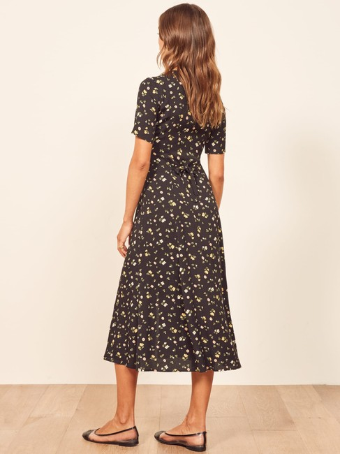 Reformation short dress Black Floral on Tradesy Image 2