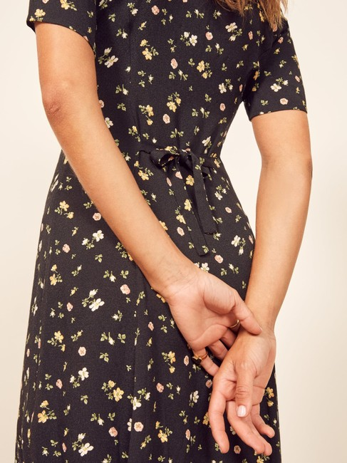 Reformation short dress Black Floral on Tradesy Image 4