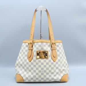 2abbf6673e Louis Vuitton Lv Hampstead Canvas Damier Azur Mm Shoulder Bag