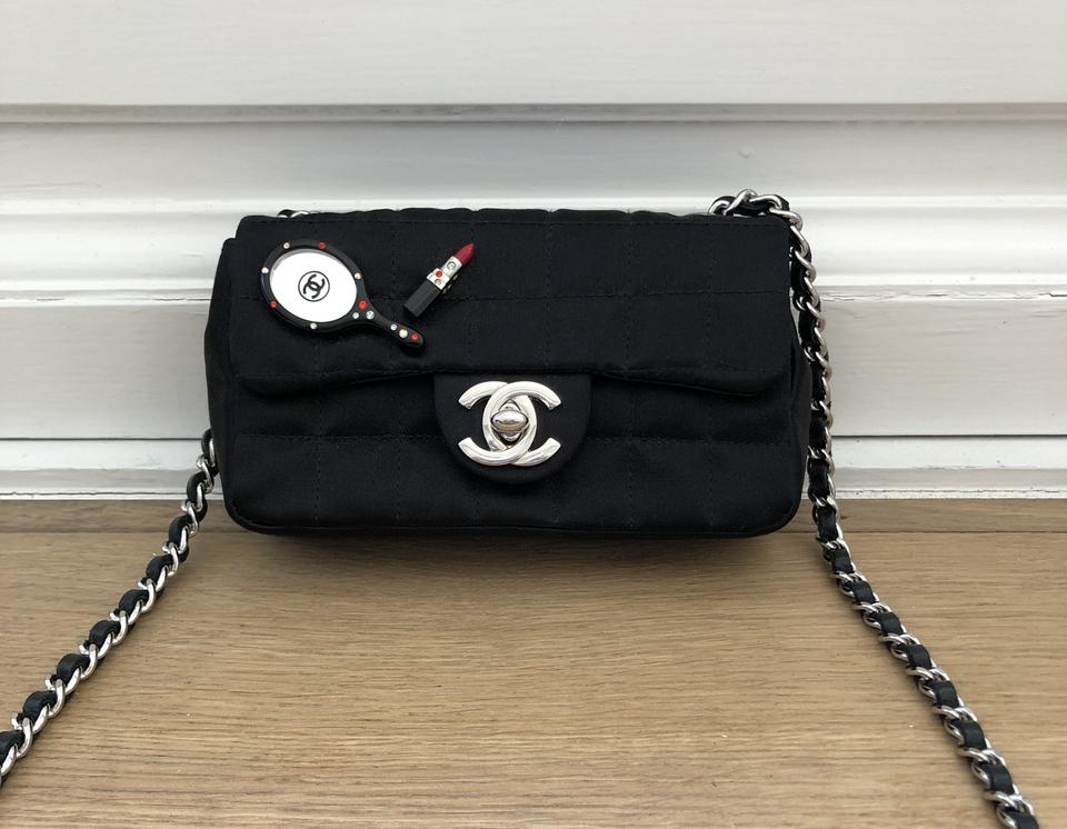 9026f2c442 Chanel Tote Limited Edition Timeless Extra Mini Black Satin ...