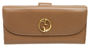 Gucci Gucci Brown Leather Vintage Long Wallet