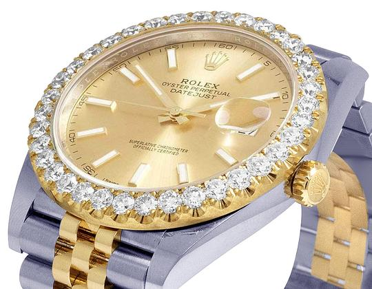 Rolex Datejust Il 41MM 126333 18K/ Steel Champagne Dial Diamond 4.5 Ct Image 2