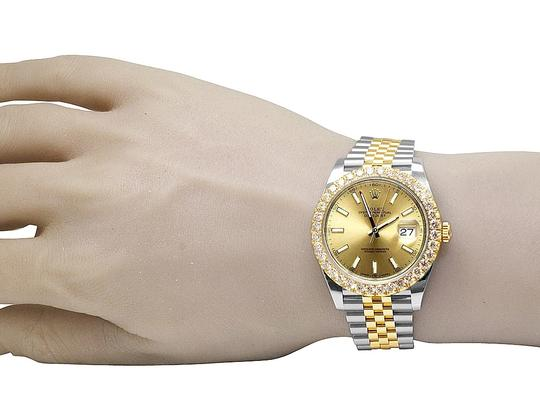Rolex Datejust Il 41MM 126333 18K/ Steel Champagne Dial Diamond 4.5 Ct Image 7