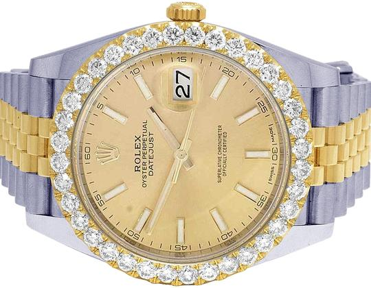 Rolex Datejust Il 41MM 126333 18K/ Steel Champagne Dial Diamond 4.5 Ct Image 0