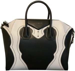 85a091fd5a Givenchy Antigona Medium Antigona Satchel in Two Tone - Black and White