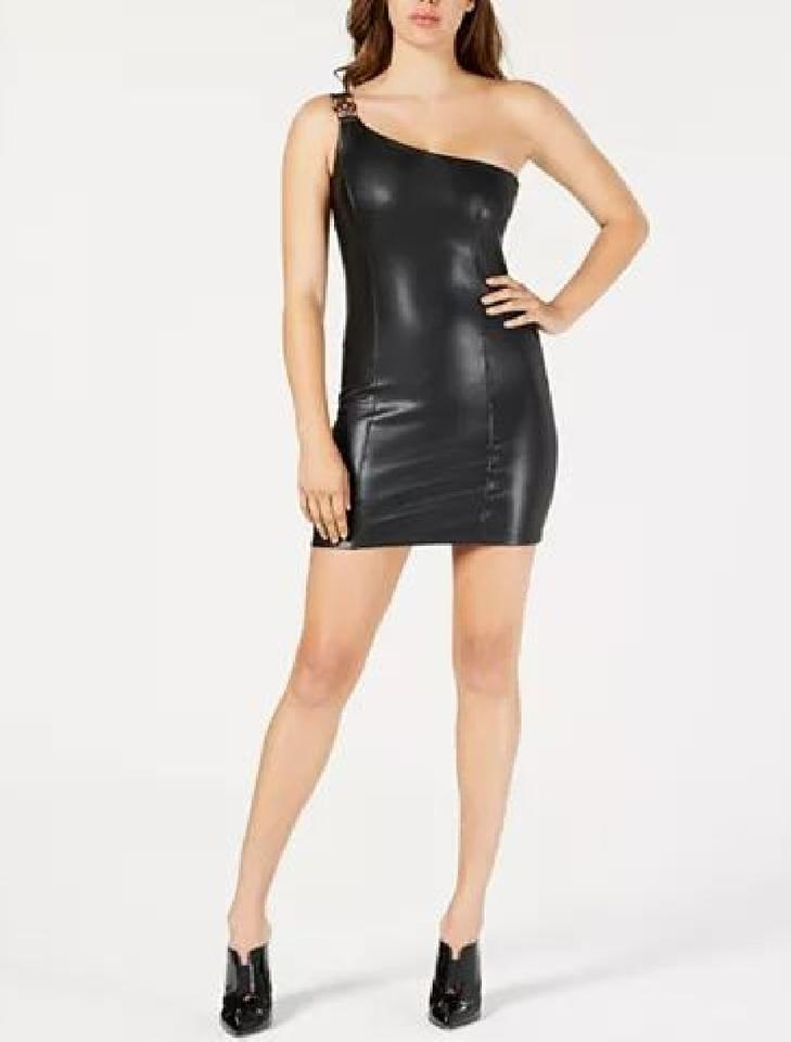 Black leather Guess dress Short black leather dress. With