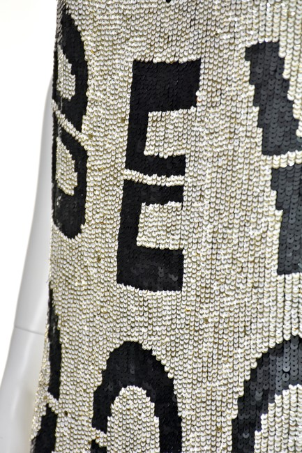 Beau Souci short dress Black & White Wanabe Sequined Sequins Tank Graphic on Tradesy Image 2