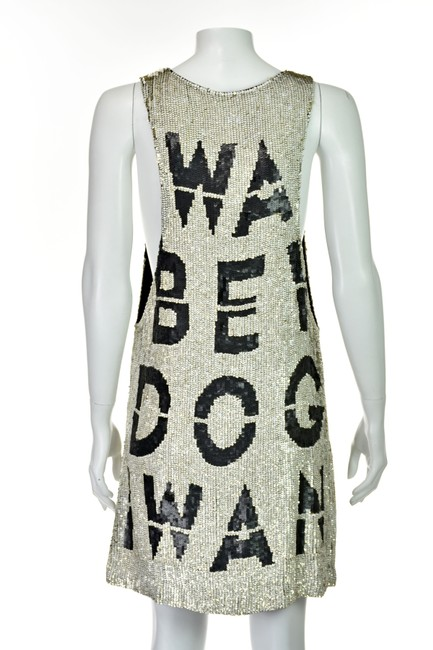 Beau Souci short dress Black & White Wanabe Sequined Sequins Tank Graphic on Tradesy Image 3