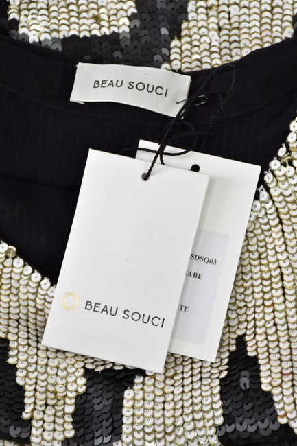 Beau Souci short dress Black & White Wanabe Sequined Sequins Tank Graphic on Tradesy Image 4