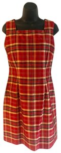 Emma James short dress red , gold on Tradesy