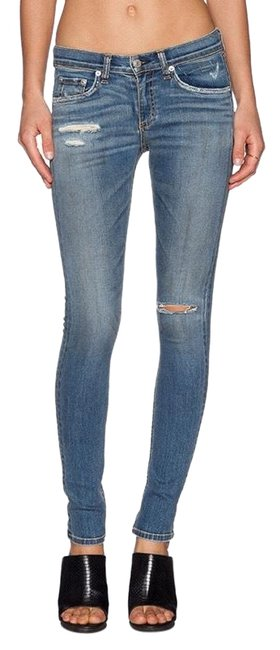 Item - Blue Distressed The In Brunswick Skinny Jeans Size 4 (S, 27)