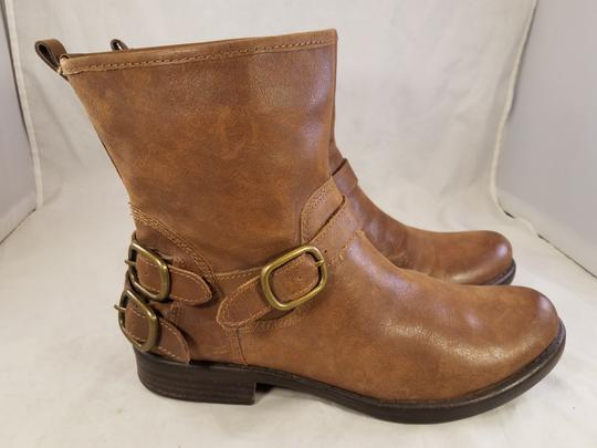 Lucky Brand Ankle Buckles Woman Size 10 Genuine Leather brown Boots Image 1