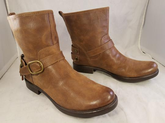 Lucky Brand Ankle Buckles Woman Size 10 Genuine Leather brown Boots Image 2